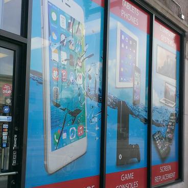 Cell Phone Repair Window