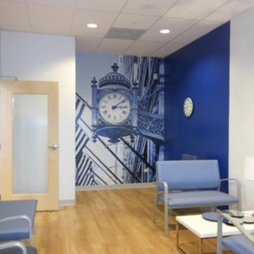 Field's Clock Wall Mural