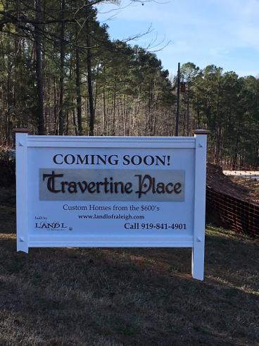 Exterior Signage for L and L Custom Homes in Cary, NC.