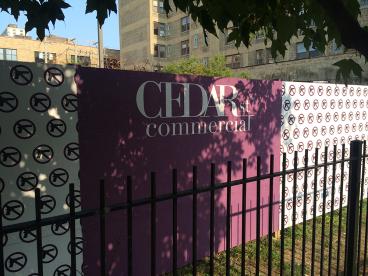 Cedar Street Construction Signage