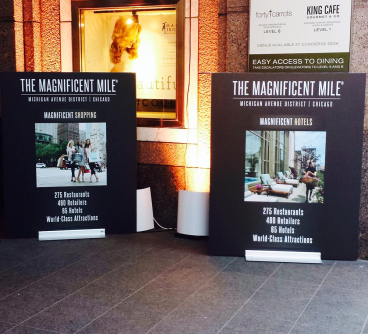 Magnificent Mile Directional Signs