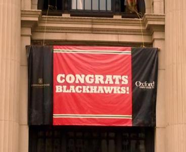 Congrats Blackhawks Banner