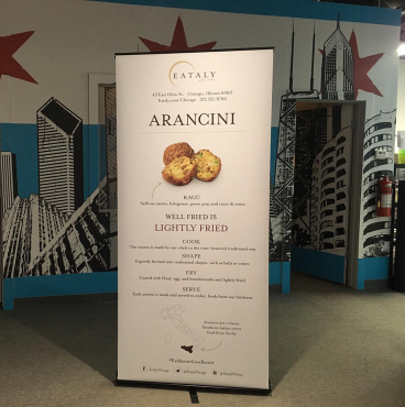 Eataly Chicago: Retractable Banner