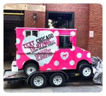 PINK mini truck wrap