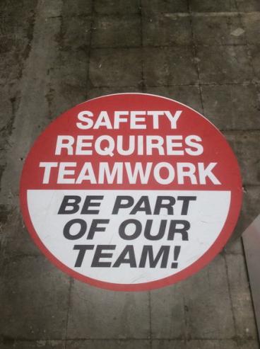 EGP Safety Floor Graphic