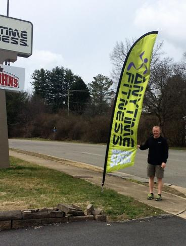 Eye Catching Flag for Anytime Fitness