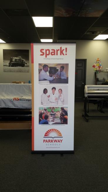 Parkway School District Retractable Banner