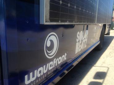Wavefront Festival Bus Wrap
