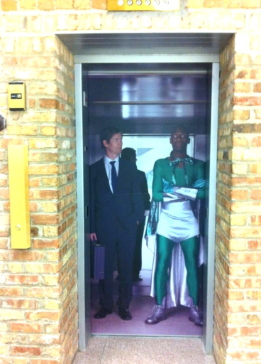 Exterior Elevator Wrap