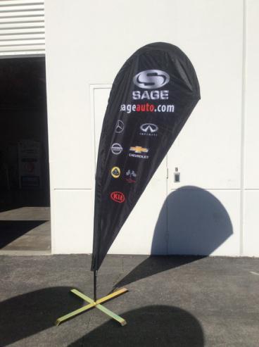 Sage Teardrop Flag