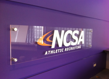 NCSA: Plexi Stand-off Office Signage