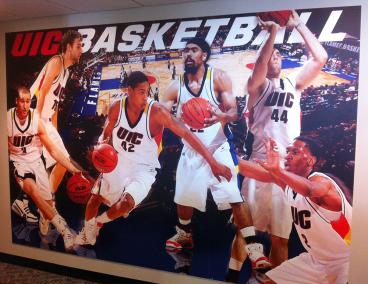 UIC: Basketball Wall Mural