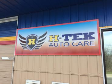 Store front Sign for Htek Auto Care