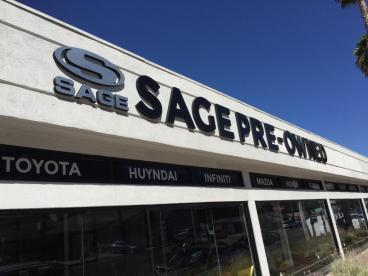 Sage Auto Pre Owned Outdoor Signs