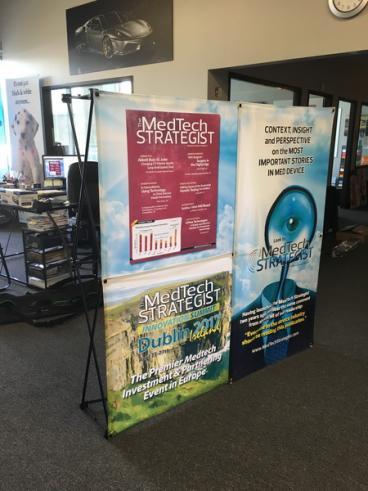 MedTech Strategist 3 Panel Trade Show Display