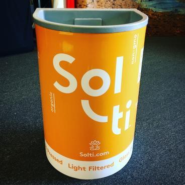 Solti Drink Box Signage
