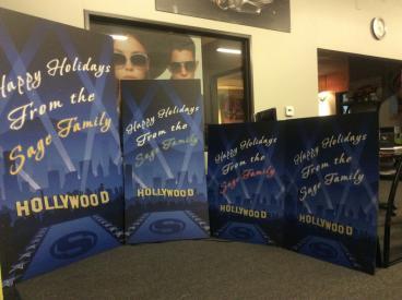 Sage Christmas Holiday Posters