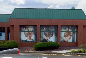 Shopping center window decals