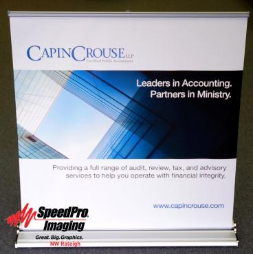Portable Banner Stand for Capin Crouse
