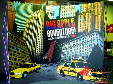 Big Apple Adventure's Pop Up Display