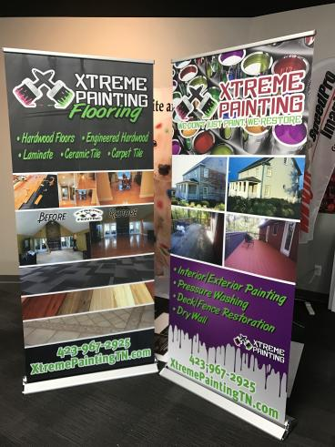 Retractable Banners for Xtreme Painting