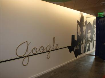 Google Wall Graphics by Speedpro Imaging of Dallas on Elmbrook Drive