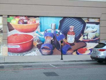 Outdoor Mural Barricade Graphic