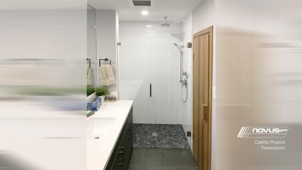 Carerra Projects Frame less Inline Shower Tsawwassen