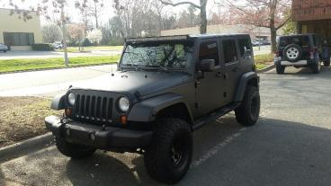 Matte Black Jeep