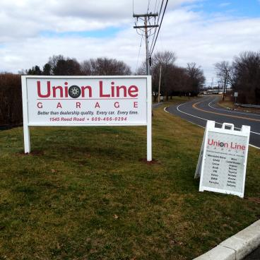 Outdoor and A-frame sign in Pennington New Jersey