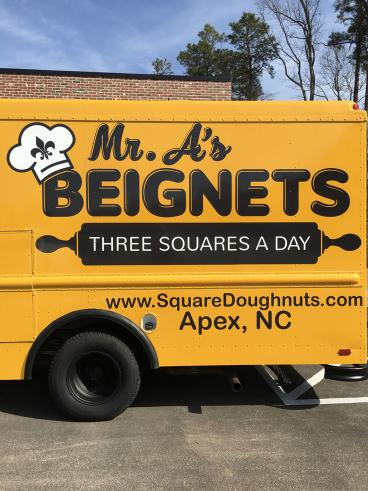 Full Vehicle Wrap for Mr. A's Beignets of Apex, NC