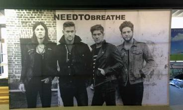 Fabric Step & Repeat for NEEDTOBREATHE