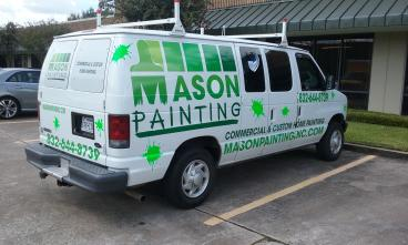 Die cut decal graphics for Mason Painting