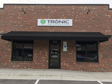 Custom Metal Sign for Tronic Integration in Apex, NC