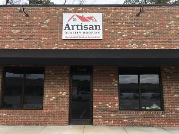Custom Metal Sign for Artisan Roofing in Apex, NC