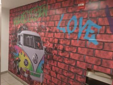 Cool Wall Mural for Leith VW in Cary, NC
