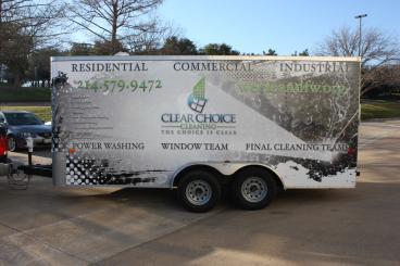 Clear Choice Cleaning Fleet Wrap Dallas Texas