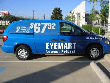 Vehicle Wrap Eyemart Dallas Texas