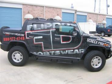 Vehicle Wrap FlipDog  Dallas Texas