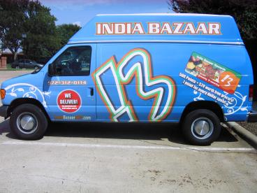 India Bazaar Vehicle Wrap Dallas Texas