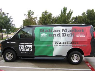 Italian Market and Deli Fleet Wrap Dallas Texas