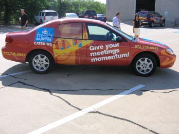 Fresh Express Vehicle Wrap Dallas Texas