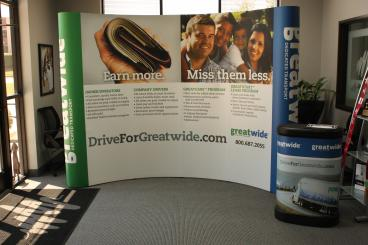 Drive For Great Wide Trade Show Display Dallas Texas