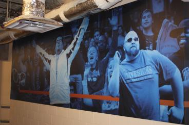 UT Mavericks Wall Mural Dallas Texas
