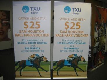 TXU BANNER Stands Speedpro Irving Dallas TEXAS