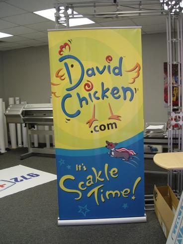 David Chicken Banner Display Speedpro Irving