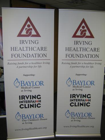 Irving Healthcare Foundation Banners Speedpro Irving Dallas Texas
