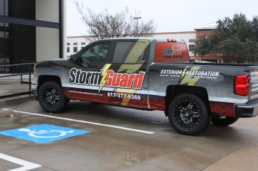 Storm Guard Vehicle Wrap Speedpro Irving Dallas Texas