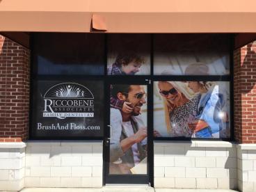 Window Graphics for Riccobene Associates Family Dentistry in Durham, NC