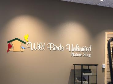 Cut Acrylic Graphics for our Friend Cheryl Miller at Wild Birds Unlimited, McKinney!